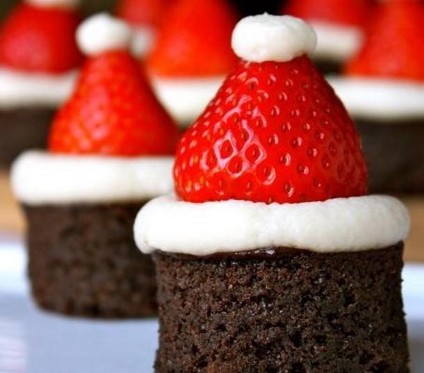 Brownies καπέλα του Άι Βασίλη