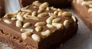 Brownies με σοκολάτα και φυστικοβούτυρο
